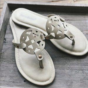 Women's Slide Sandals-Nude
